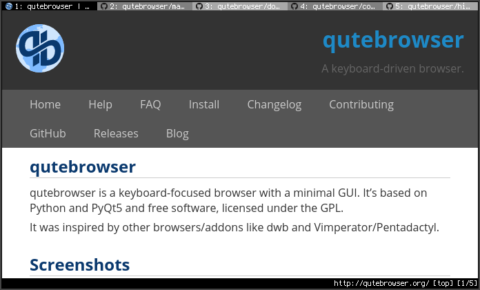 qutebrowser | qutebrowser